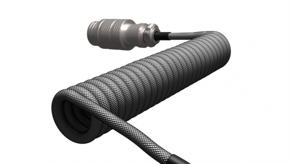 Enthusiast Series Coiled Aviator Cable (Carbon Silver)